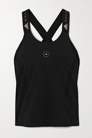 adidas by Stella McCartney TruePurpose perforated stretch-jersey tank