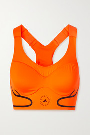adidas by Stella McCartney Truepace cutout neon stretch sports bra