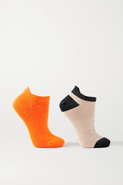 adidas by Stella McCartney Set of two jacquard-knit socks