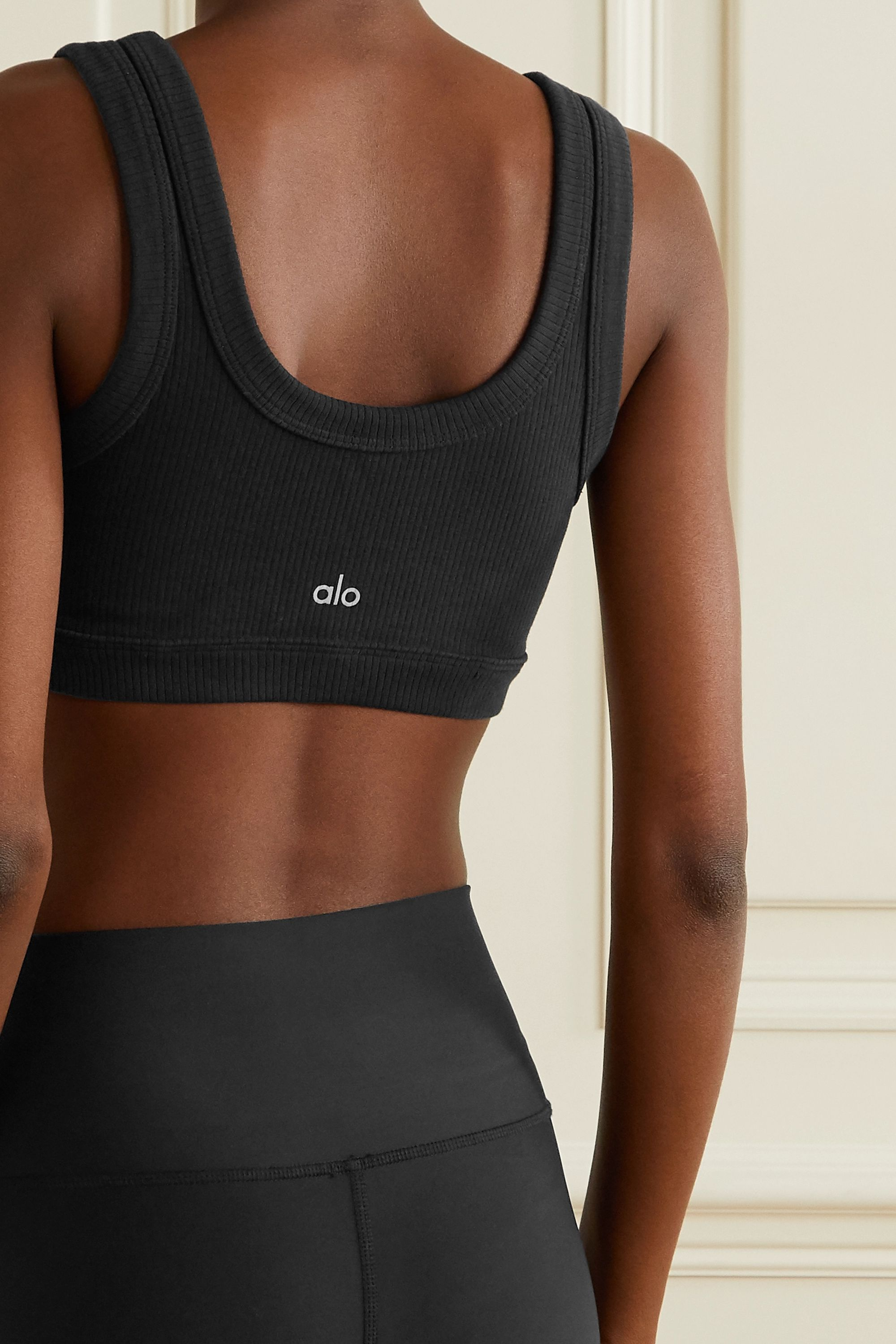 Alo Yoga Wellness ribbed stretch sports bra