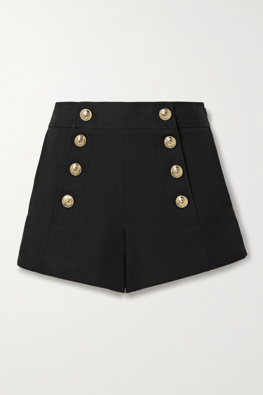 Derek Lam 10 Crosby Robertson button-embellished cotton-blend shorts