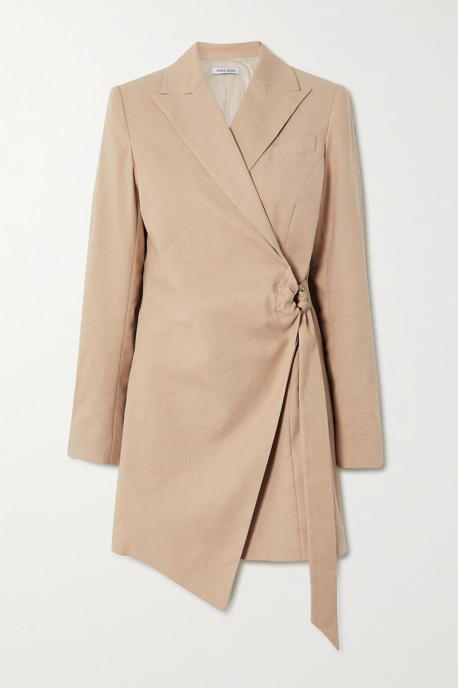 ANNA QUAN Valentina linen-blend wrap mini dress