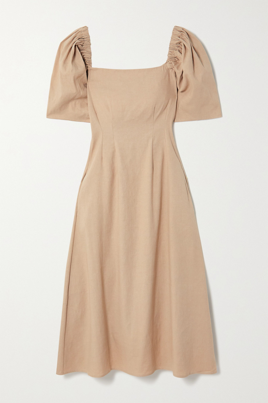ANNA QUAN Aura linen-blend midi dress