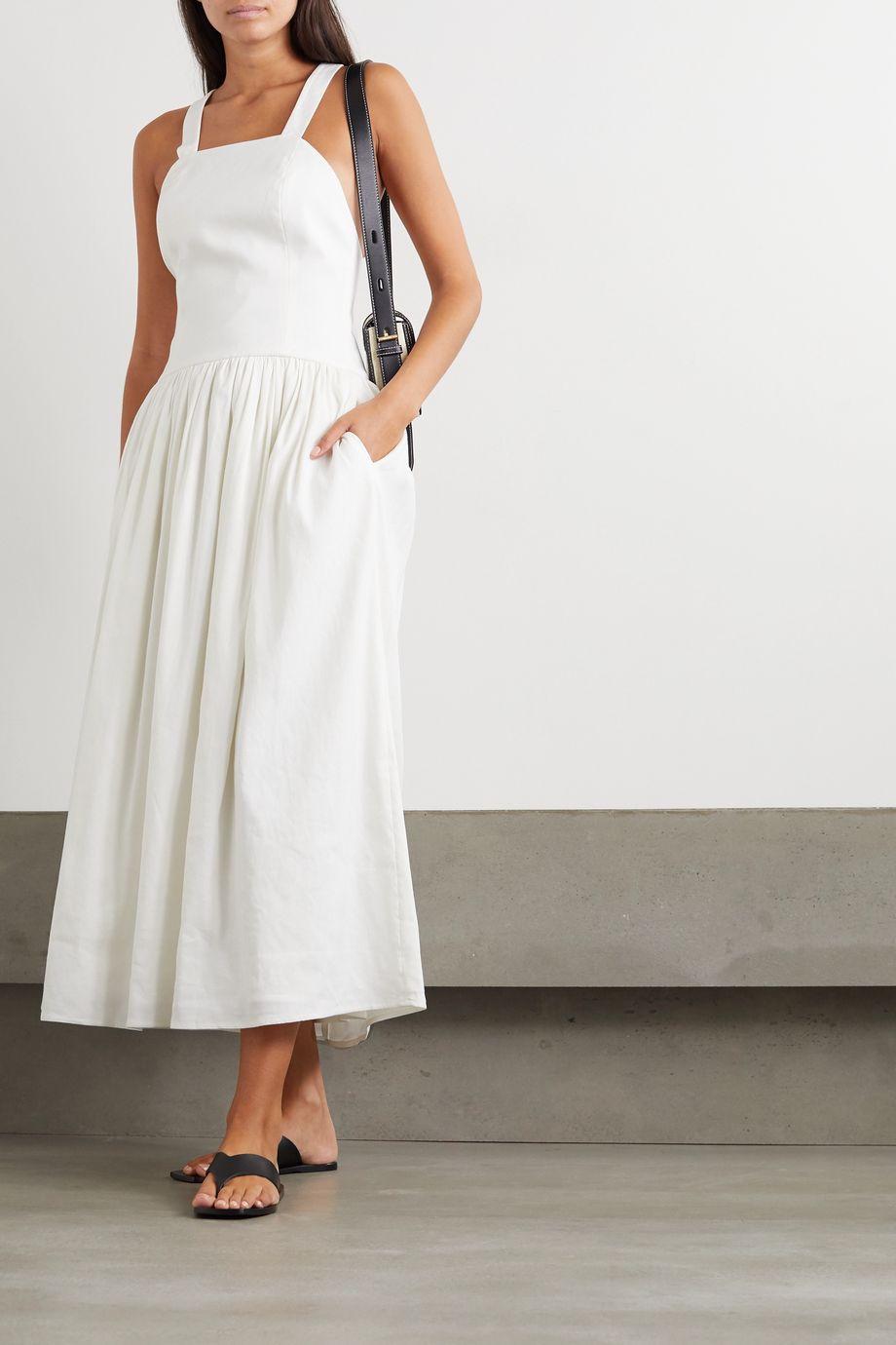 ANNA QUAN Coco linen-blend maxi dress