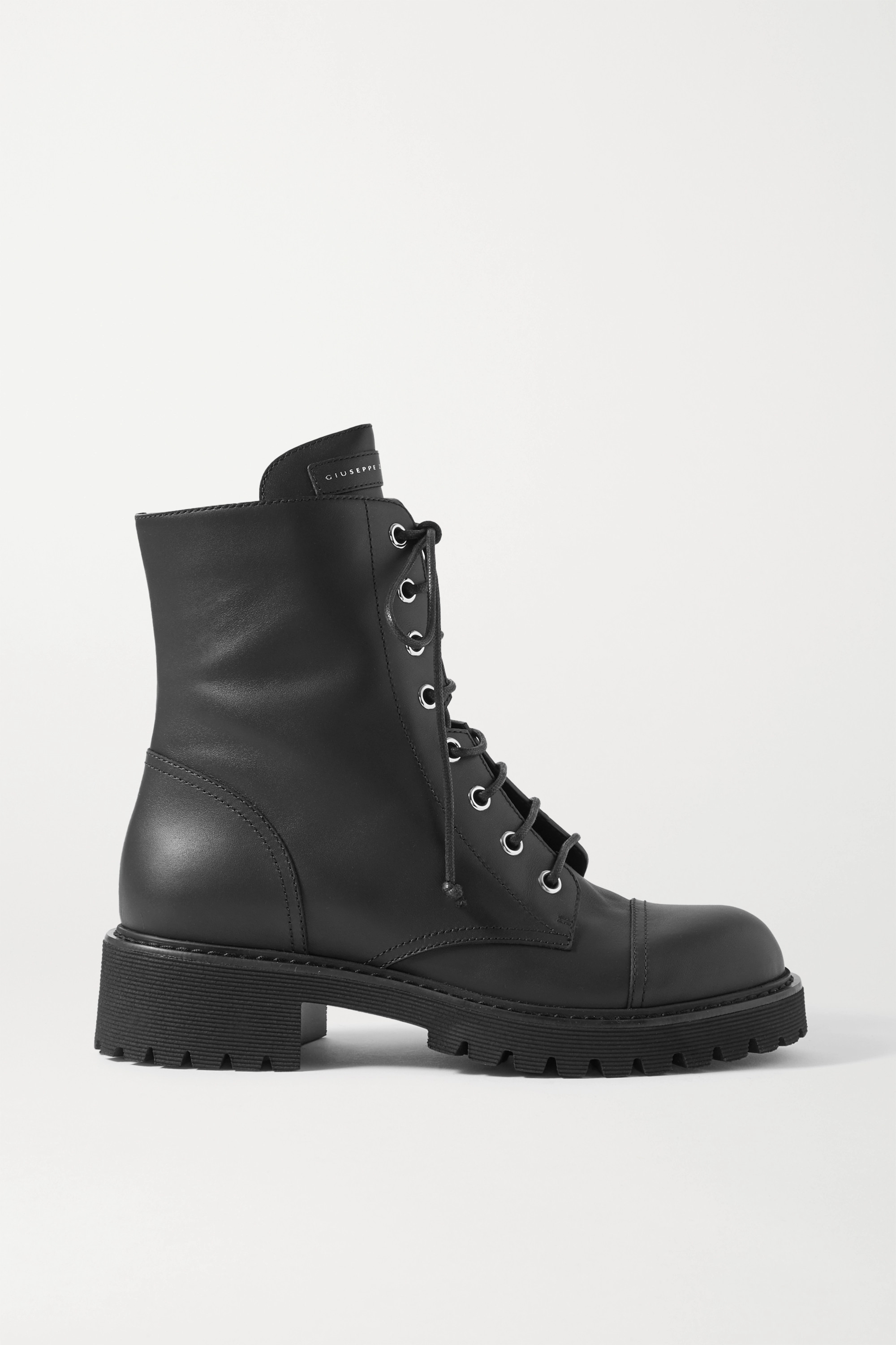 Black Chris leather ankle boots