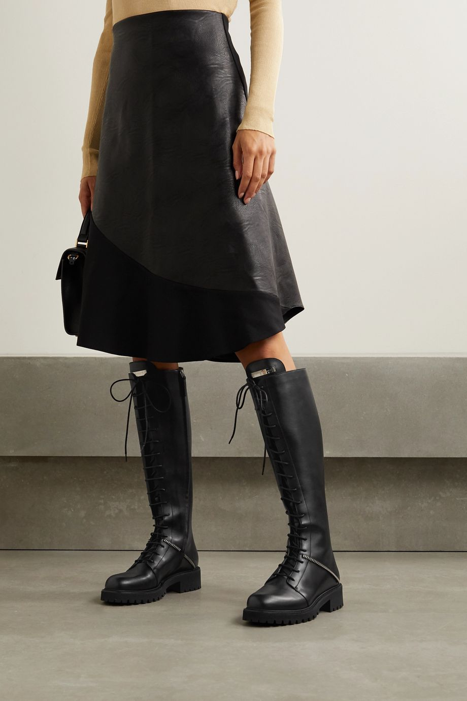 Giuseppe Zanotti Nevada leather knee boots