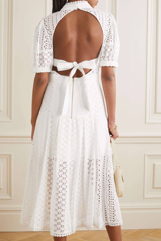 Self-Portrait Broderie anglaise cotton midi dress