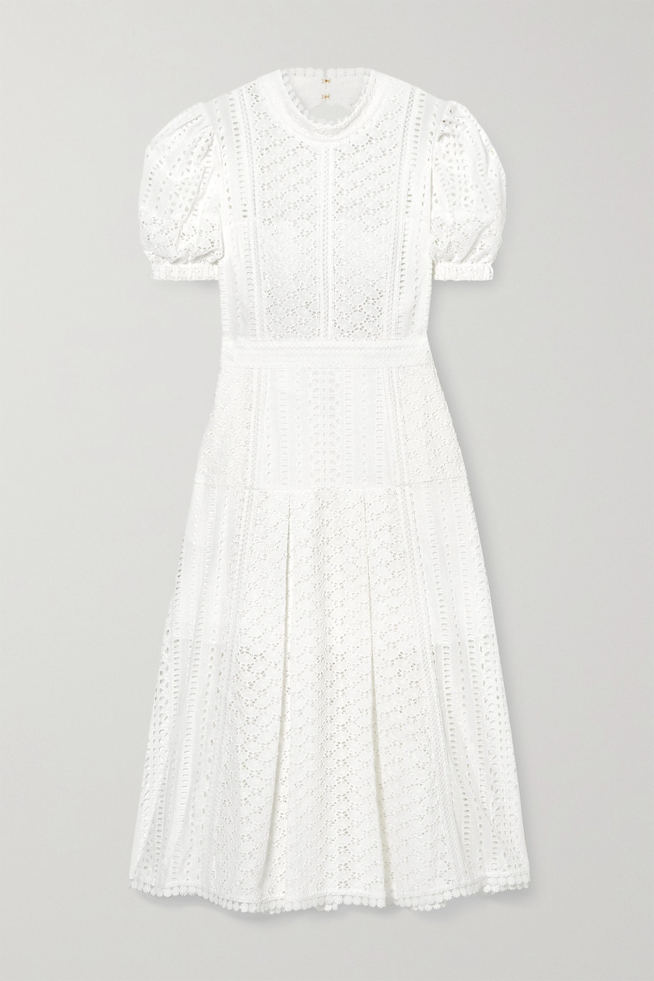 Self-Portrait Broderie anglaise cotton midi dress