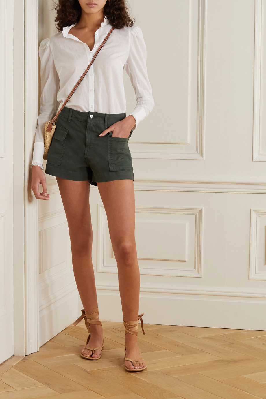 Veronica Beard Demi cotton-blend cargo shorts