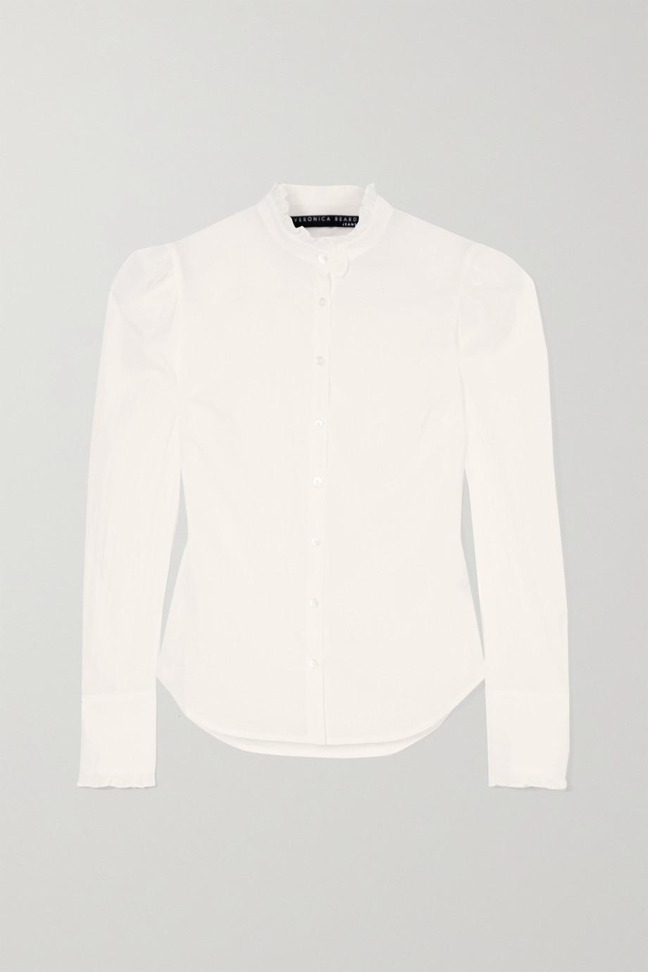 Veronica Beard Holli ruffle-trimmed cotton-voile shirt