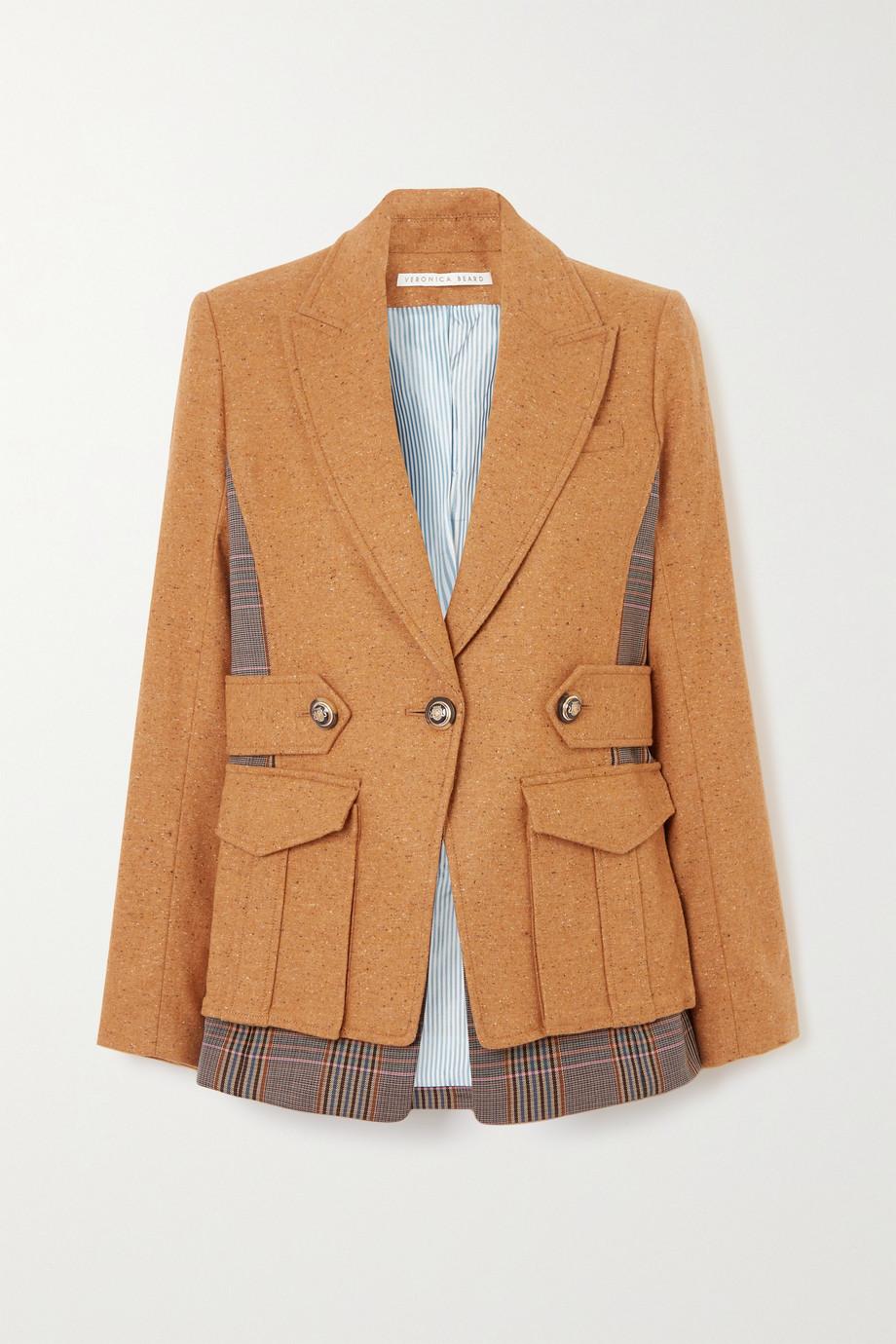 Veronica Beard Aitana Dickey paneled wool-blend and checked twill jacket