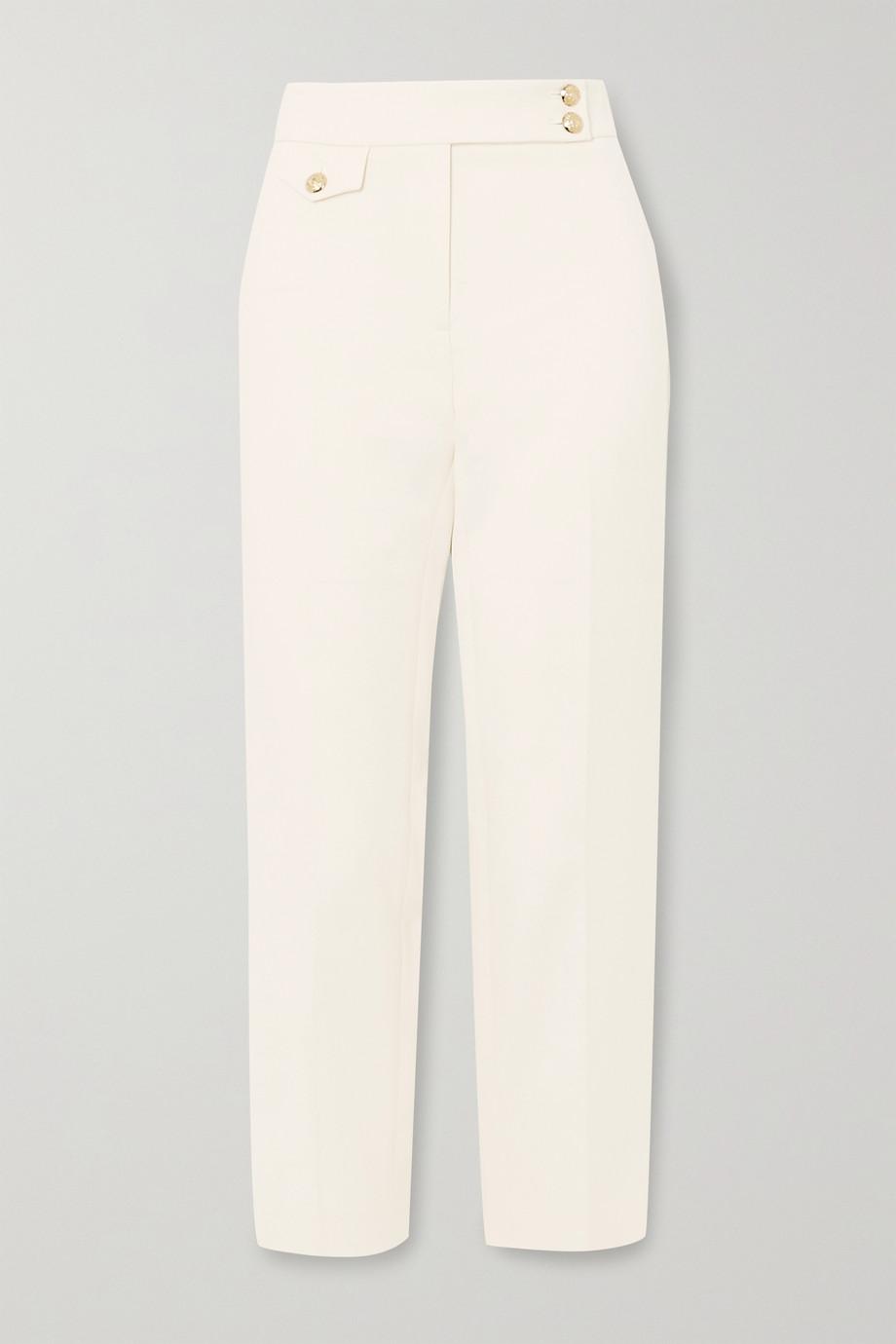 Veronica Beard Renzo cropped crepe slim-leg pants