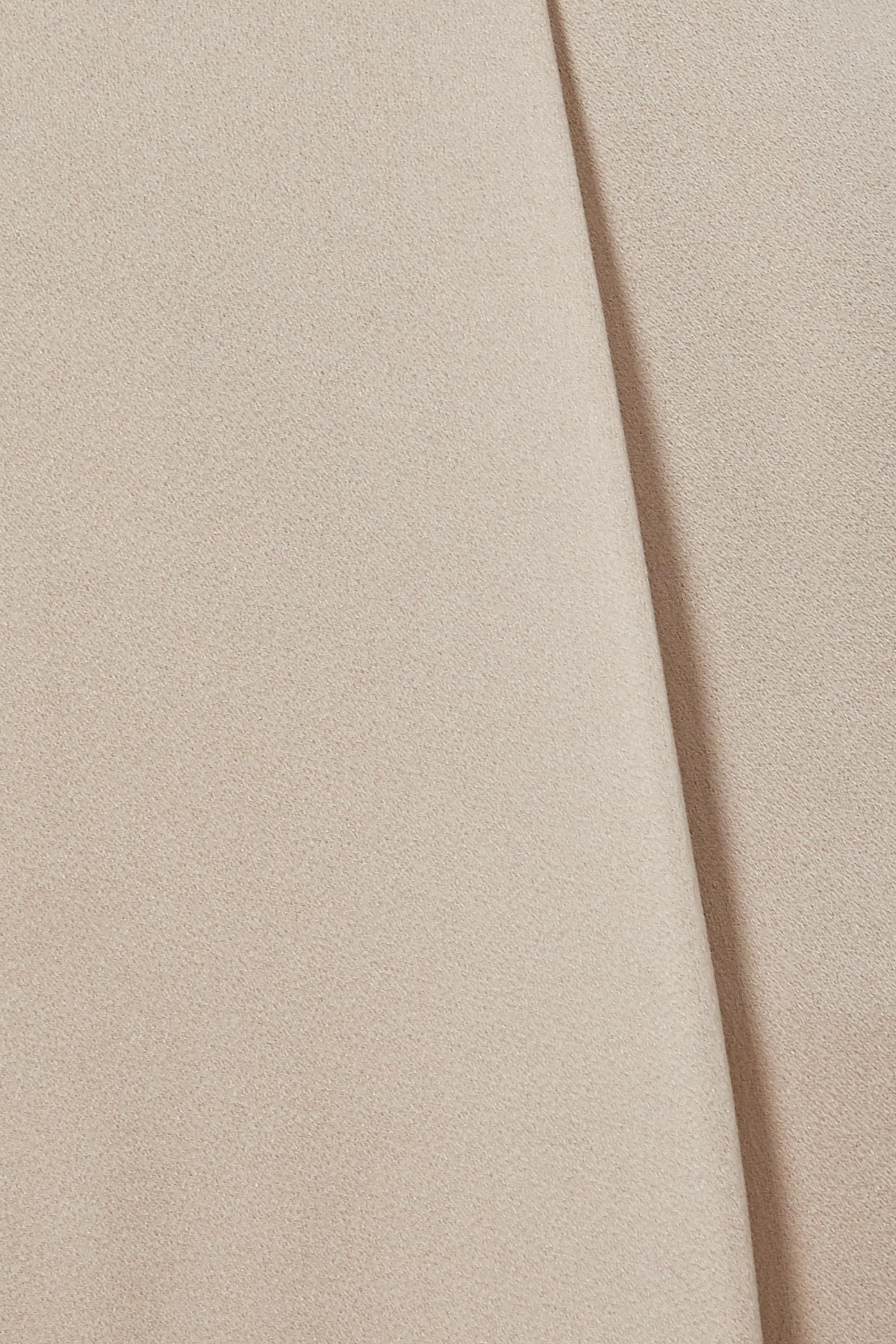 Beige Robinne Satin-crepe Wide-leg Pants   Veronica Beard