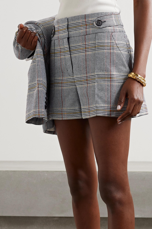 Veronica Beard Betty checked cotton-blend shorts