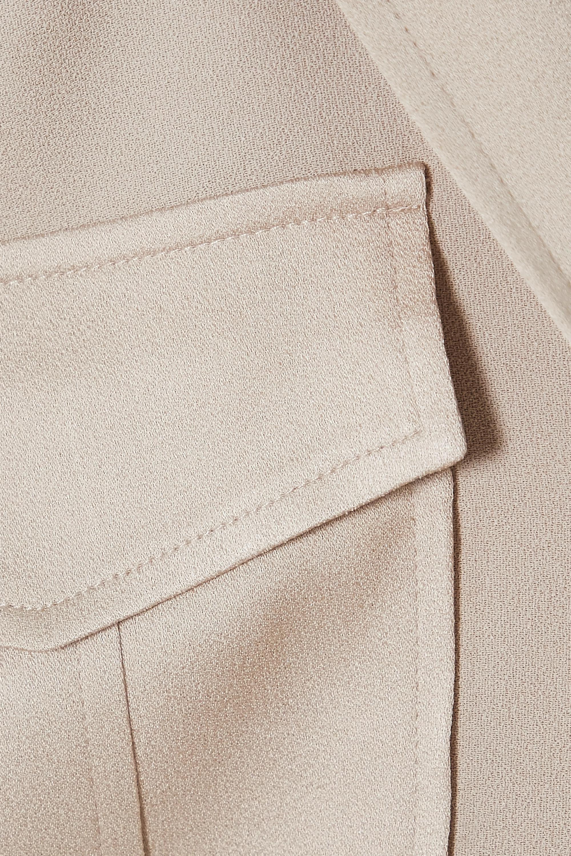 Beige Ainsley Satin-crepe Shirt | Veronica Beard