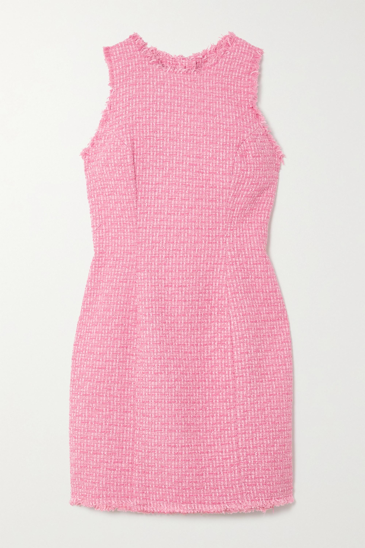 Balmain Frayed cotton-blend tweed mini dress