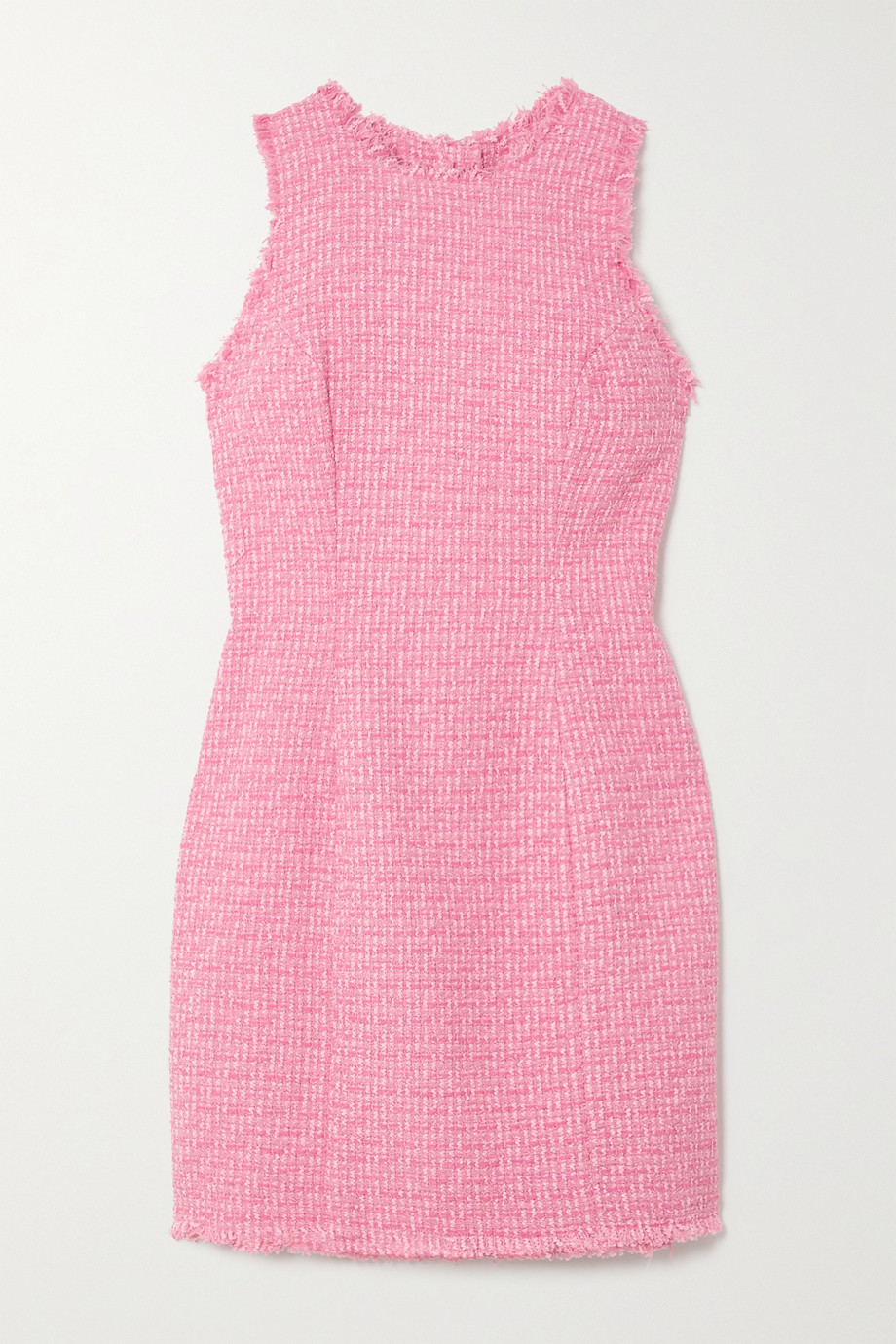 Balmain Frayed cotton-blend tweed mini dress