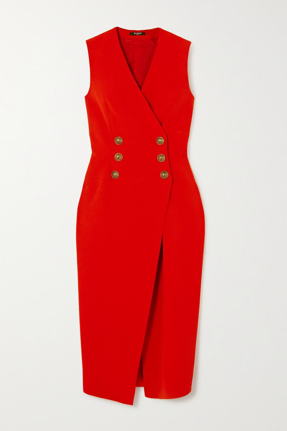 Balmain 绉纱中长连衣裙