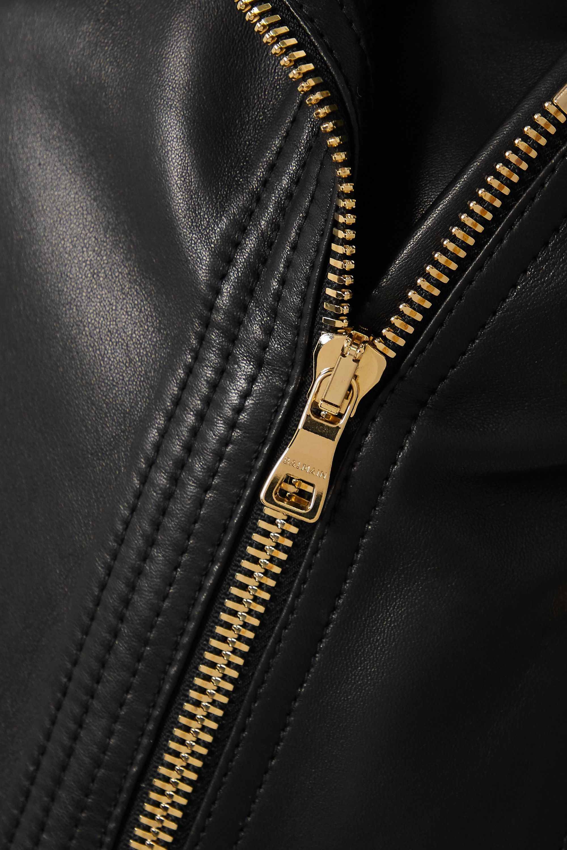 Balmain 皮革机车夹克