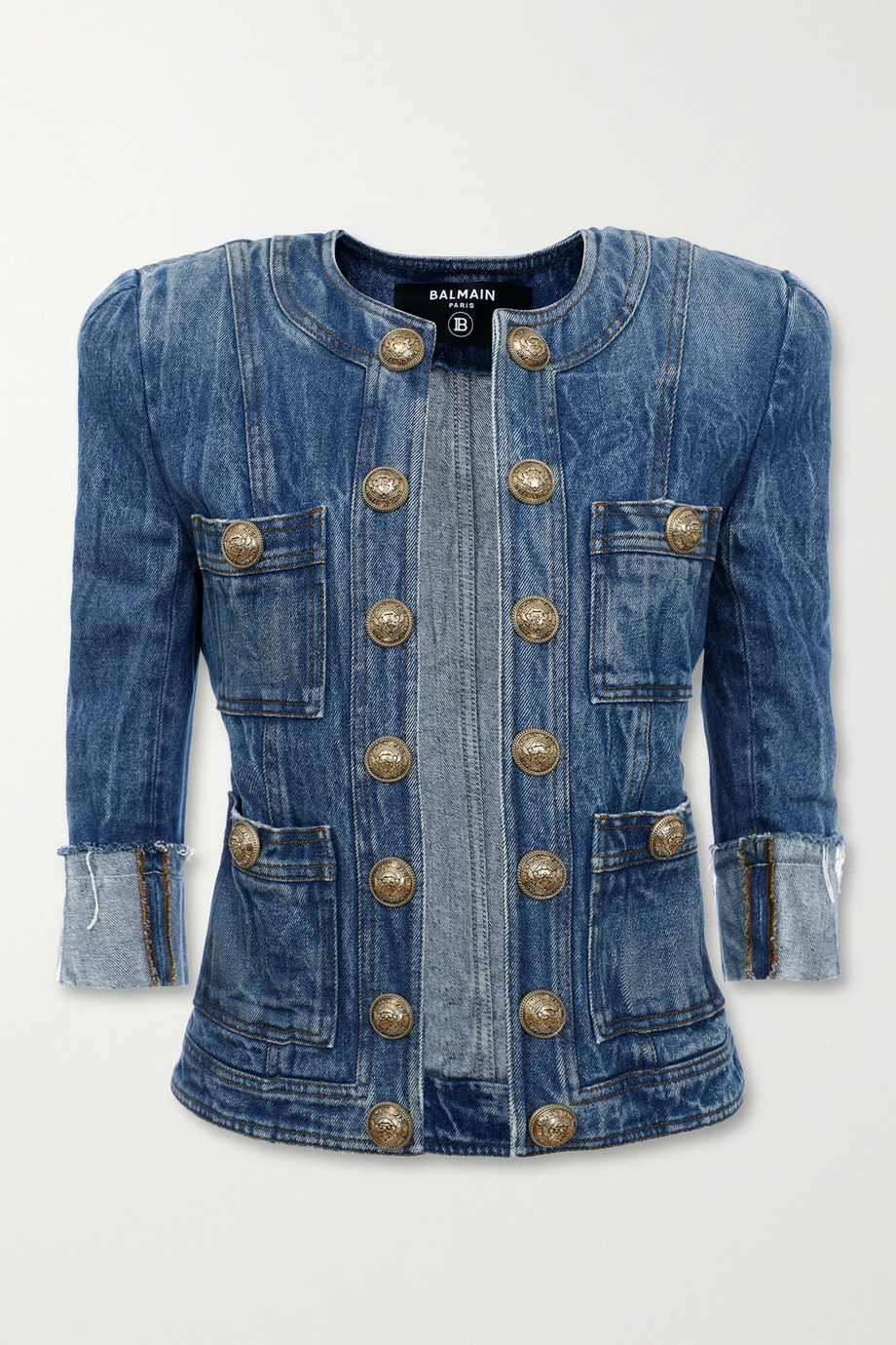 Balmain Button-embellished denim jacket