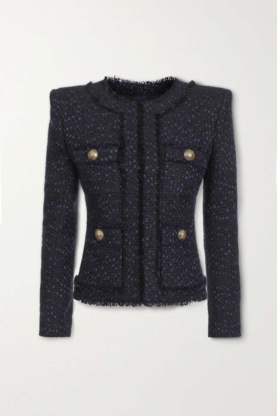 Balmain Button-embellished tweed jacket