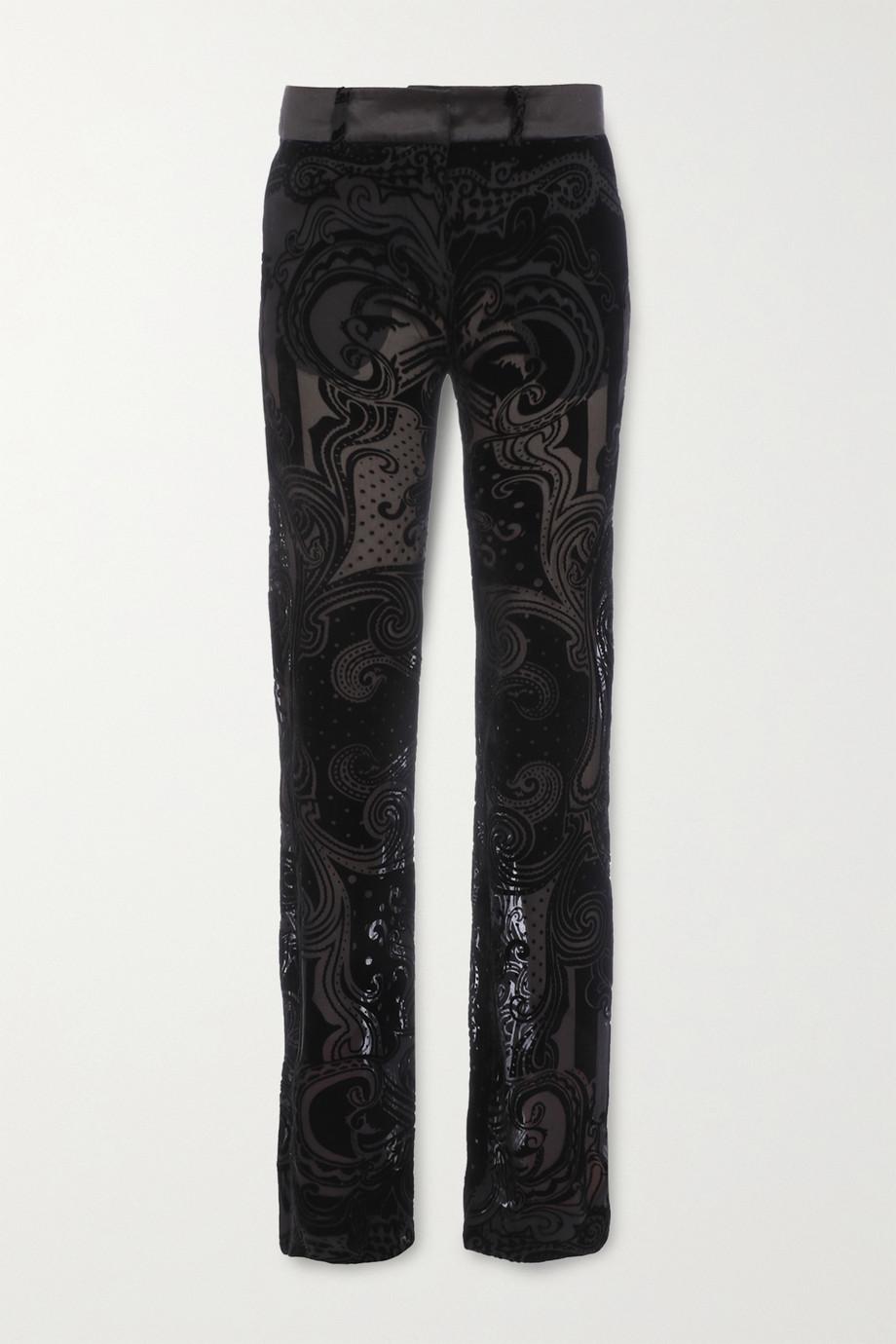 Balmain Devoré-chiffon flared pants