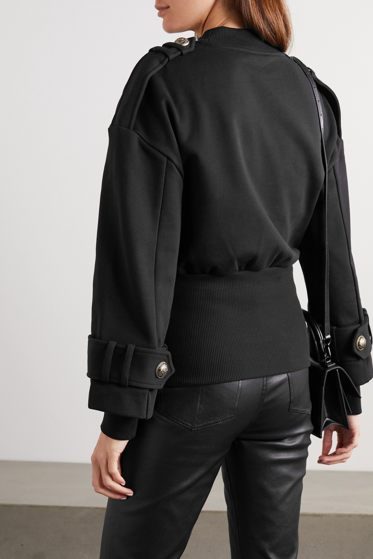 Balmain 纽扣缀饰绗缝平纹布卫衣