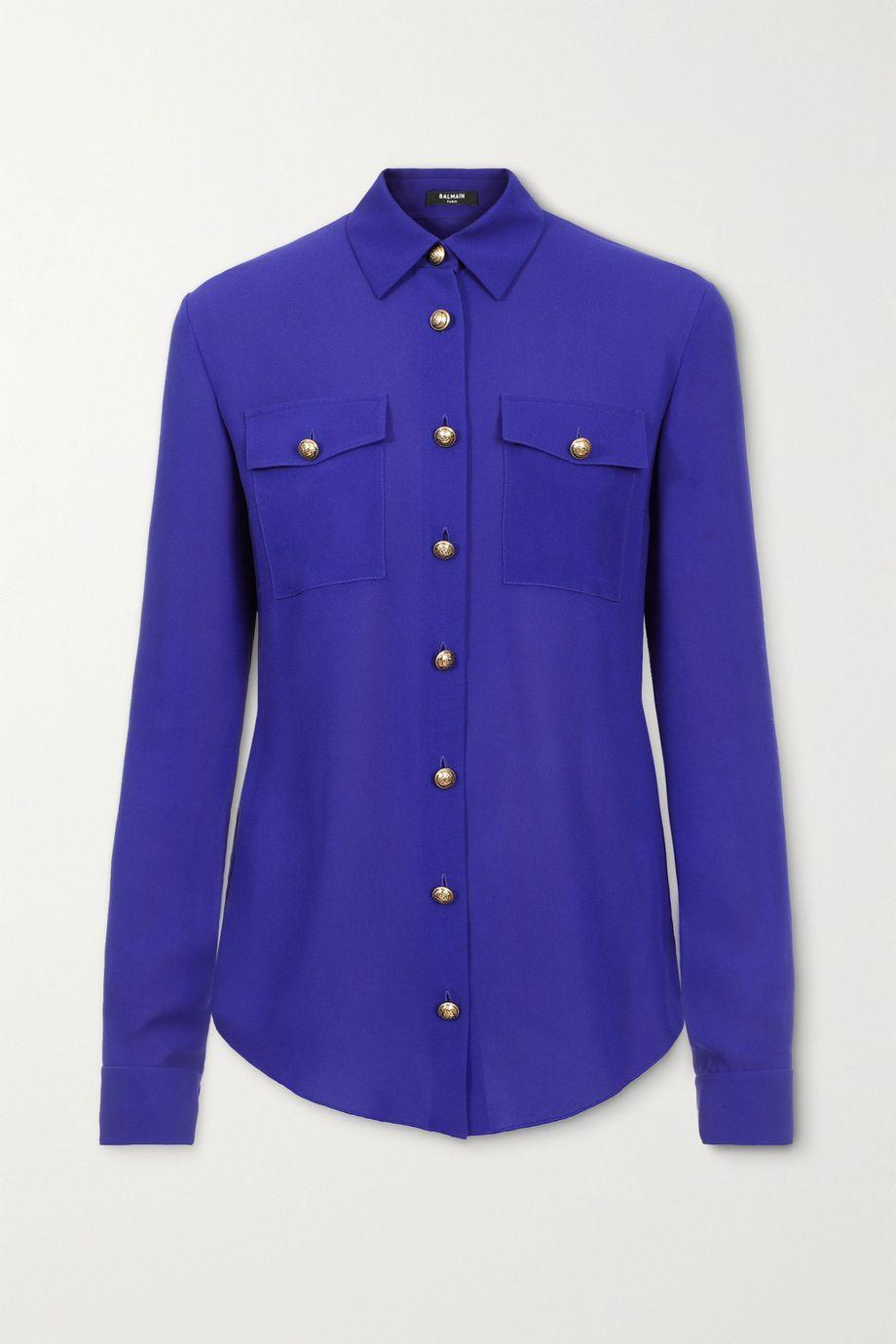 Balmain Silk-georgette blouse
