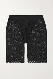 Versace Jacquard-trimmed stretch-lace shorts