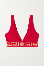 Versace Stretch-cotton soft-cup triangle bra