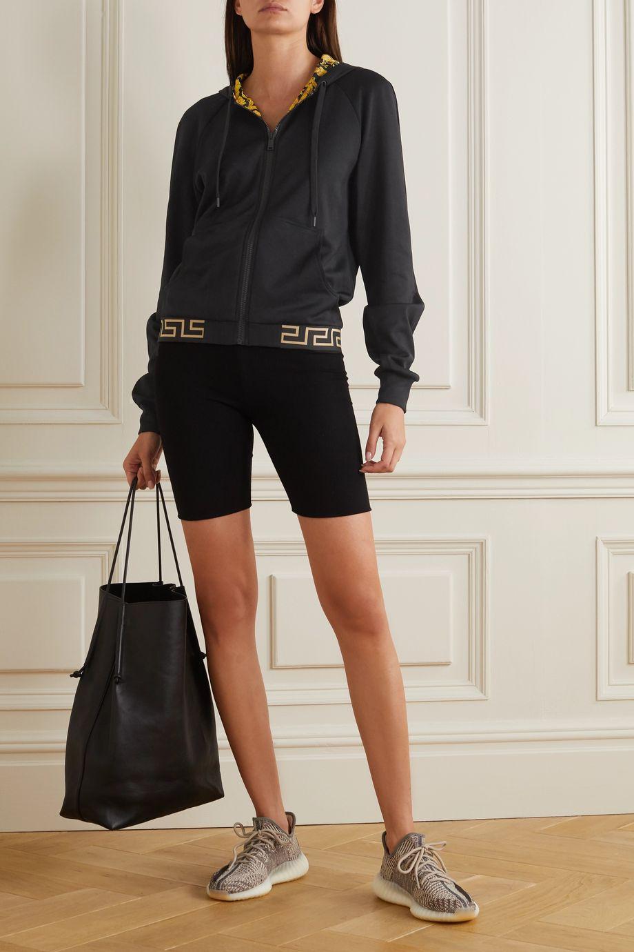 Versace Printed jersey hoodie