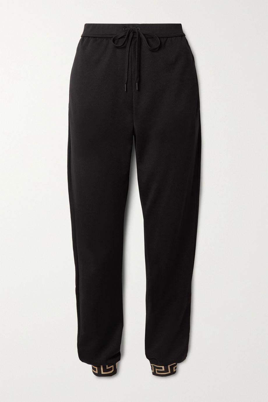 Versace 印花平纹布休闲裤