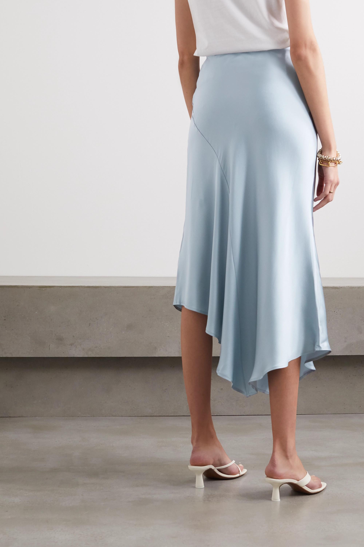 Anine Bing Bailey asymmetric silk-satin midi skirt