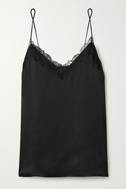 Anine Bing Belle lace-trimmed silk-satin camisole