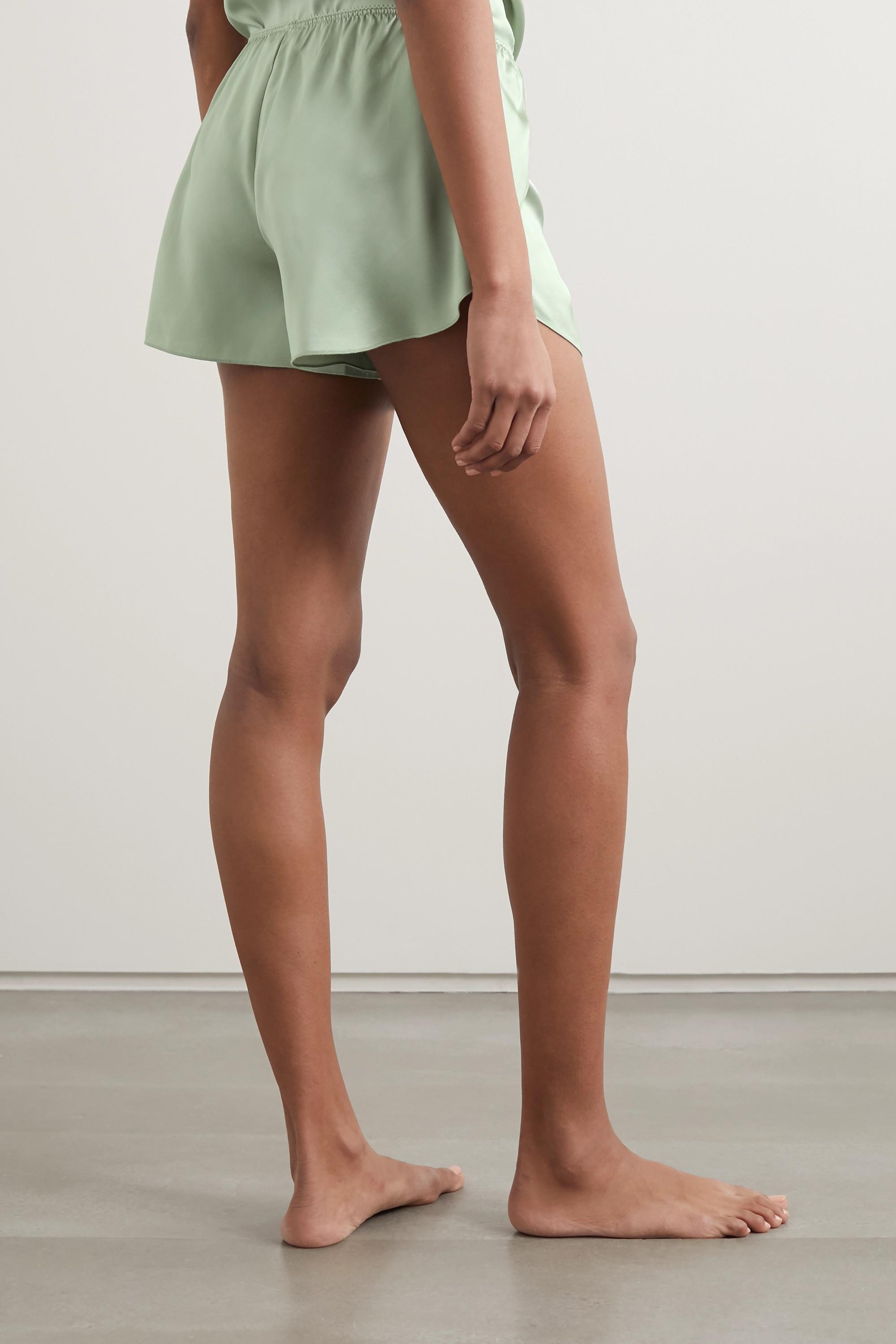 Anine Bing Jade 丝缎短睡裤