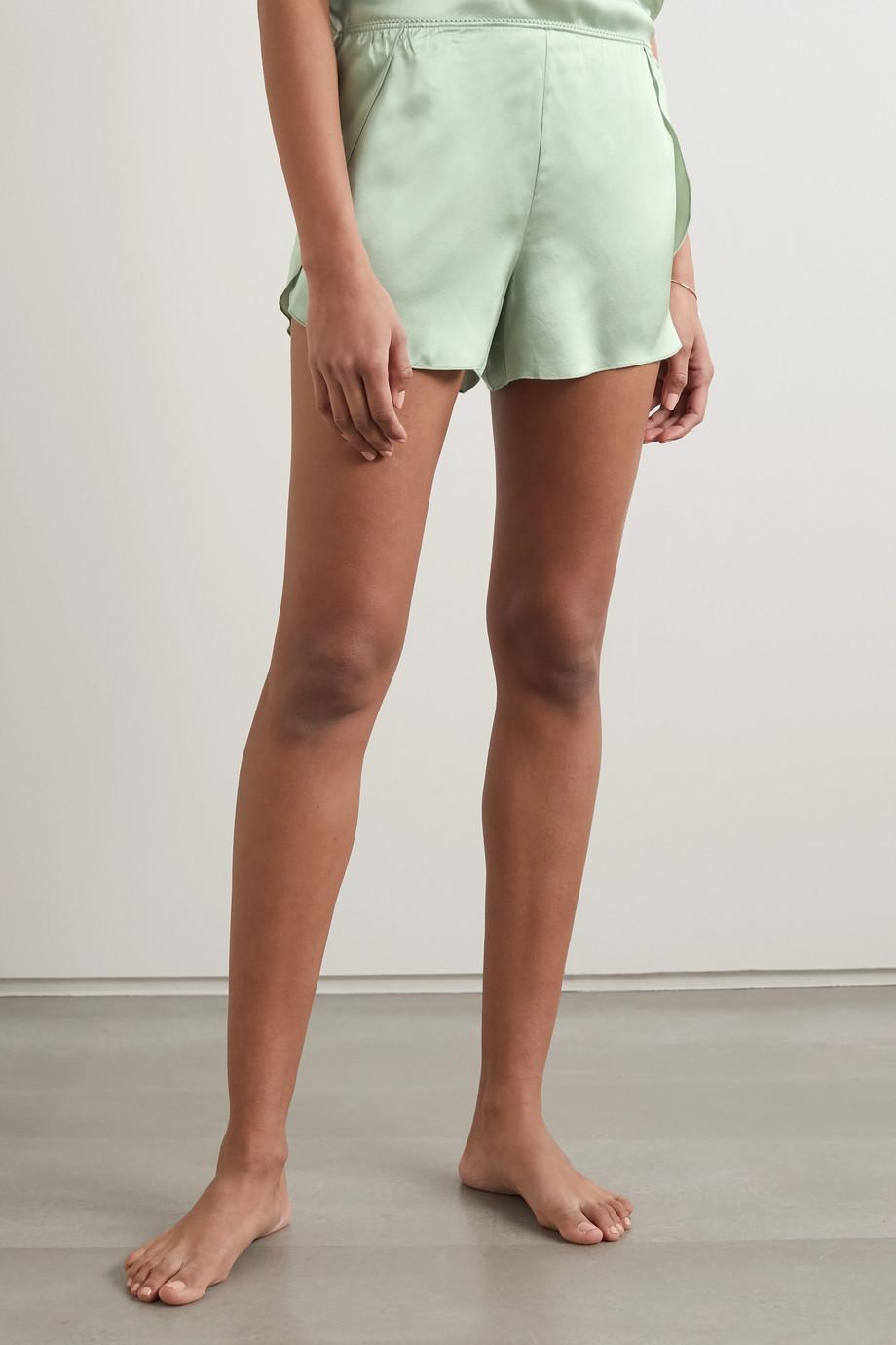 Anine Bing Jade silk-satin pajama shorts