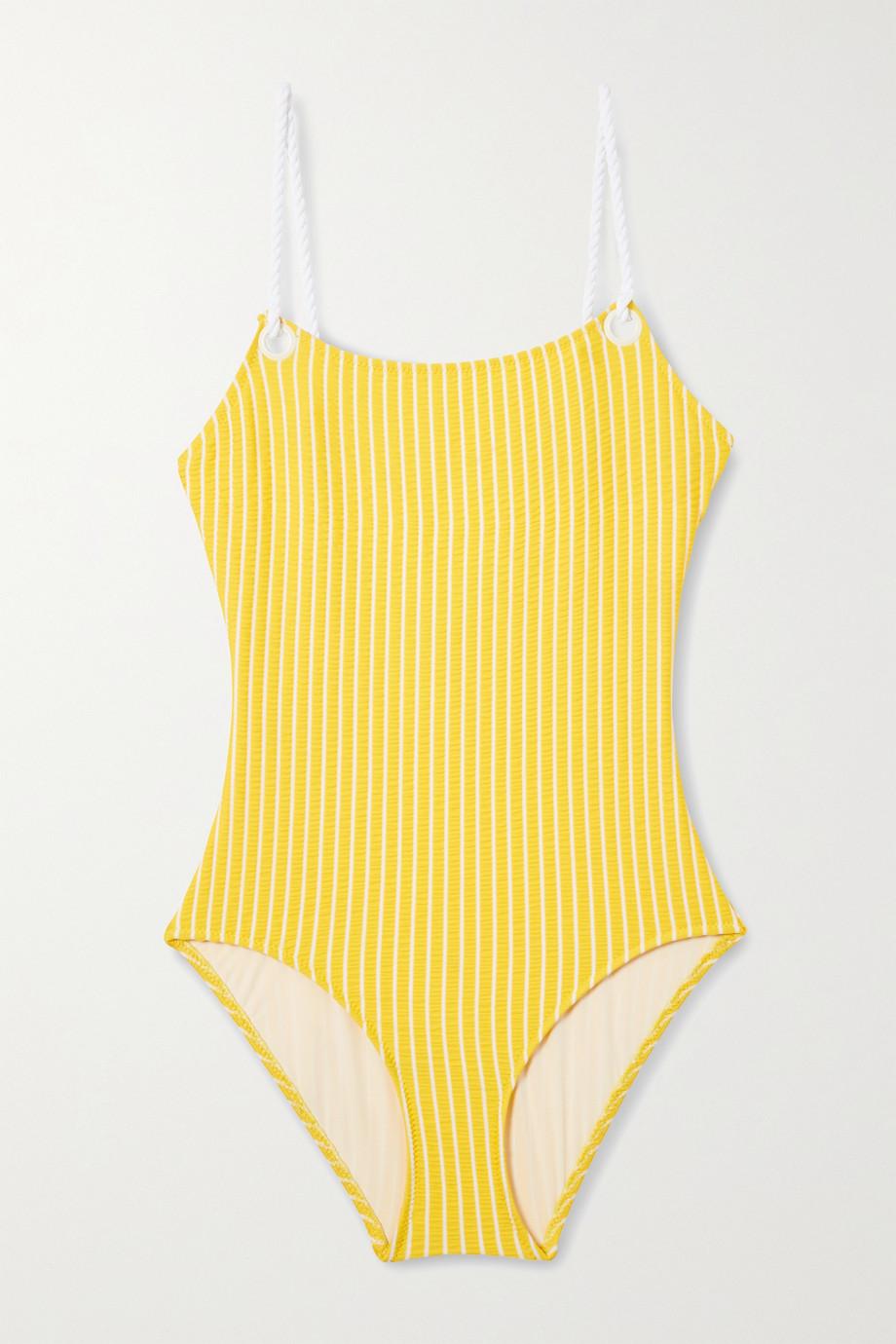 Solid & Striped + Il Pellicano The Nina striped seersucker swimsuit