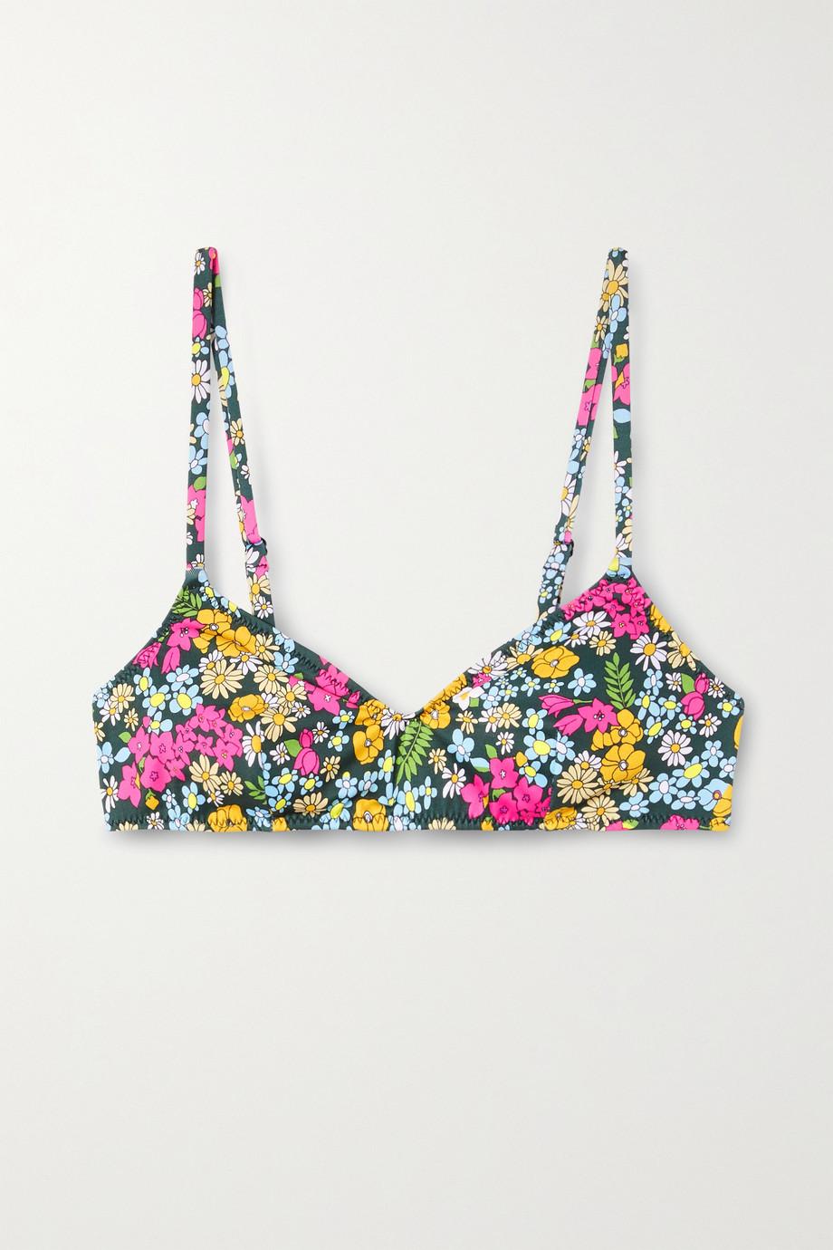 Solid & Striped + Il Pellicano The Rachel floral-print bikini top