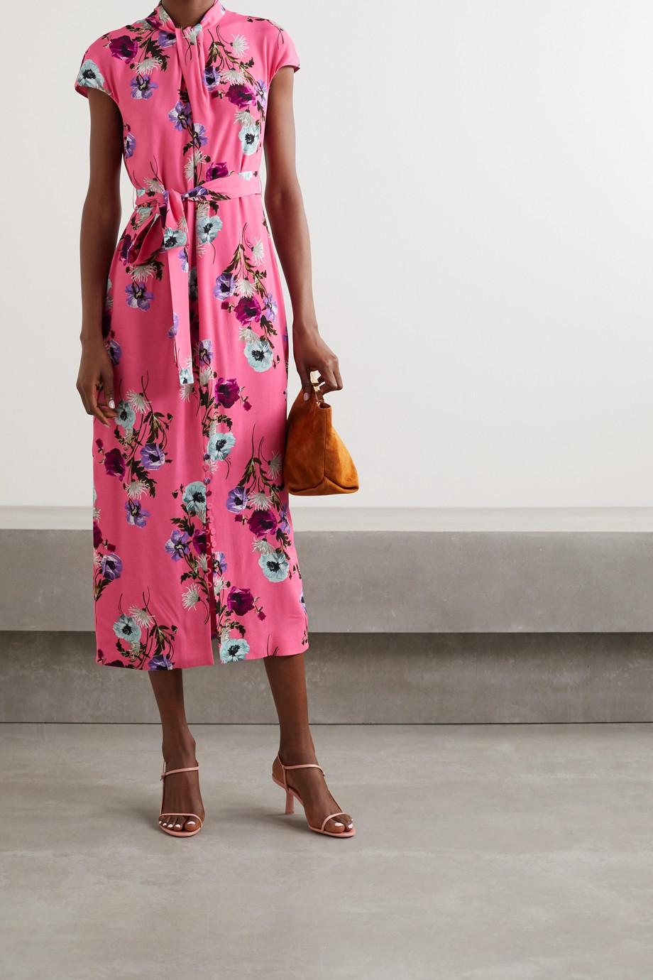 Erdem Finn belted floral-print crepe midi dress