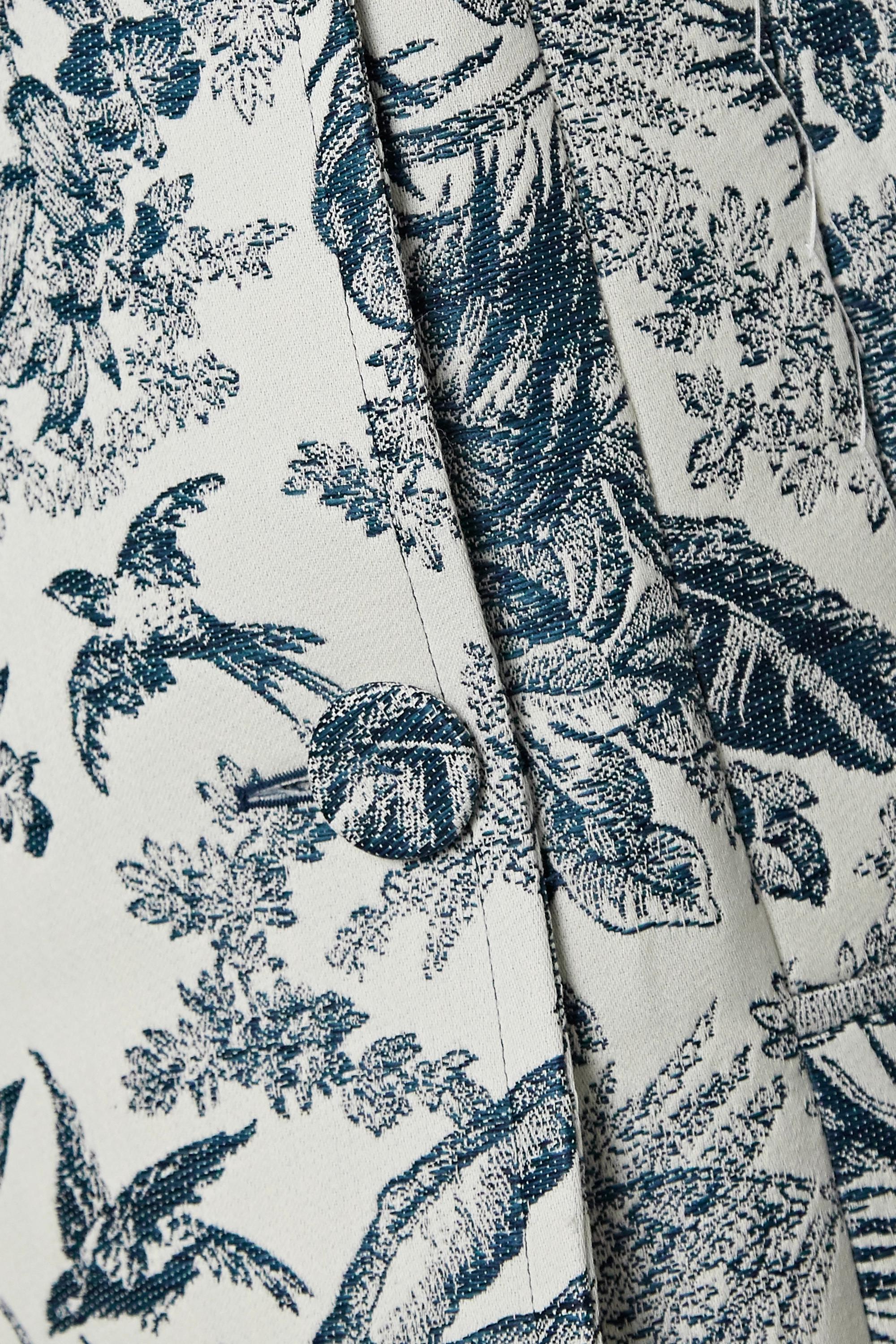 Erdem Ezra sleeveless belted floral-jacquard coat