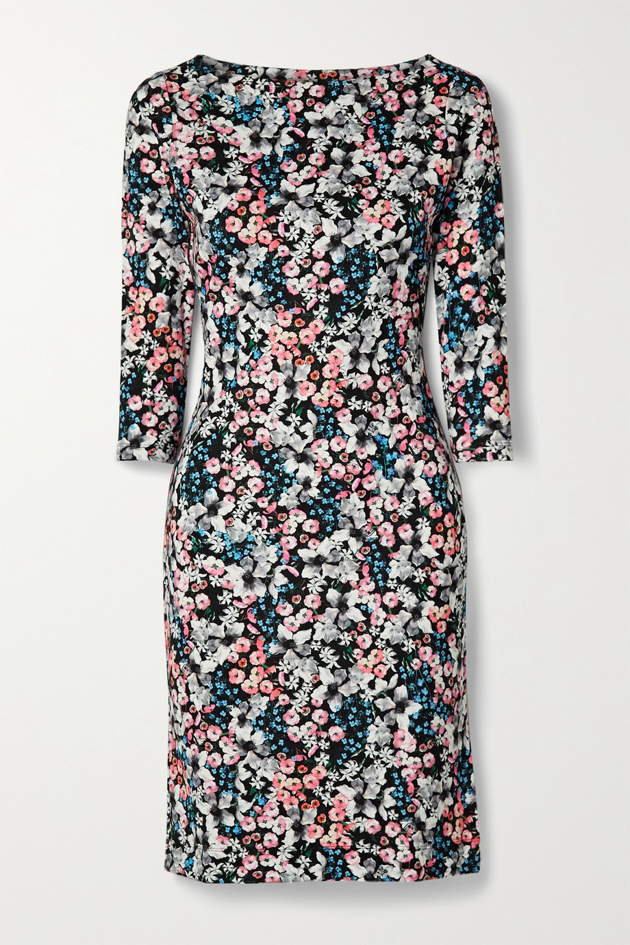 에르뎀 Erdem Reese floral-print stretch-ponte dress,Black