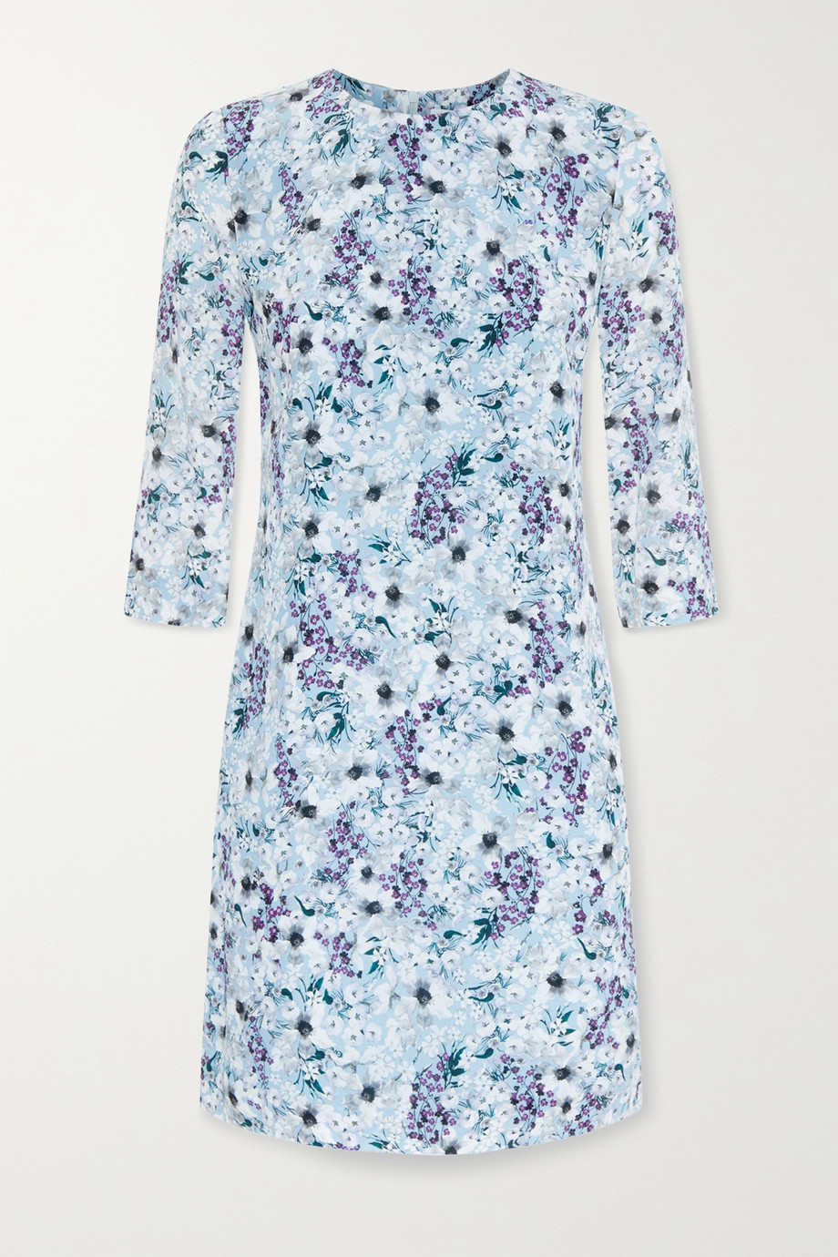 에르뎀 Erdem Emma floral-print silk crepe de chine mini dress,Blue