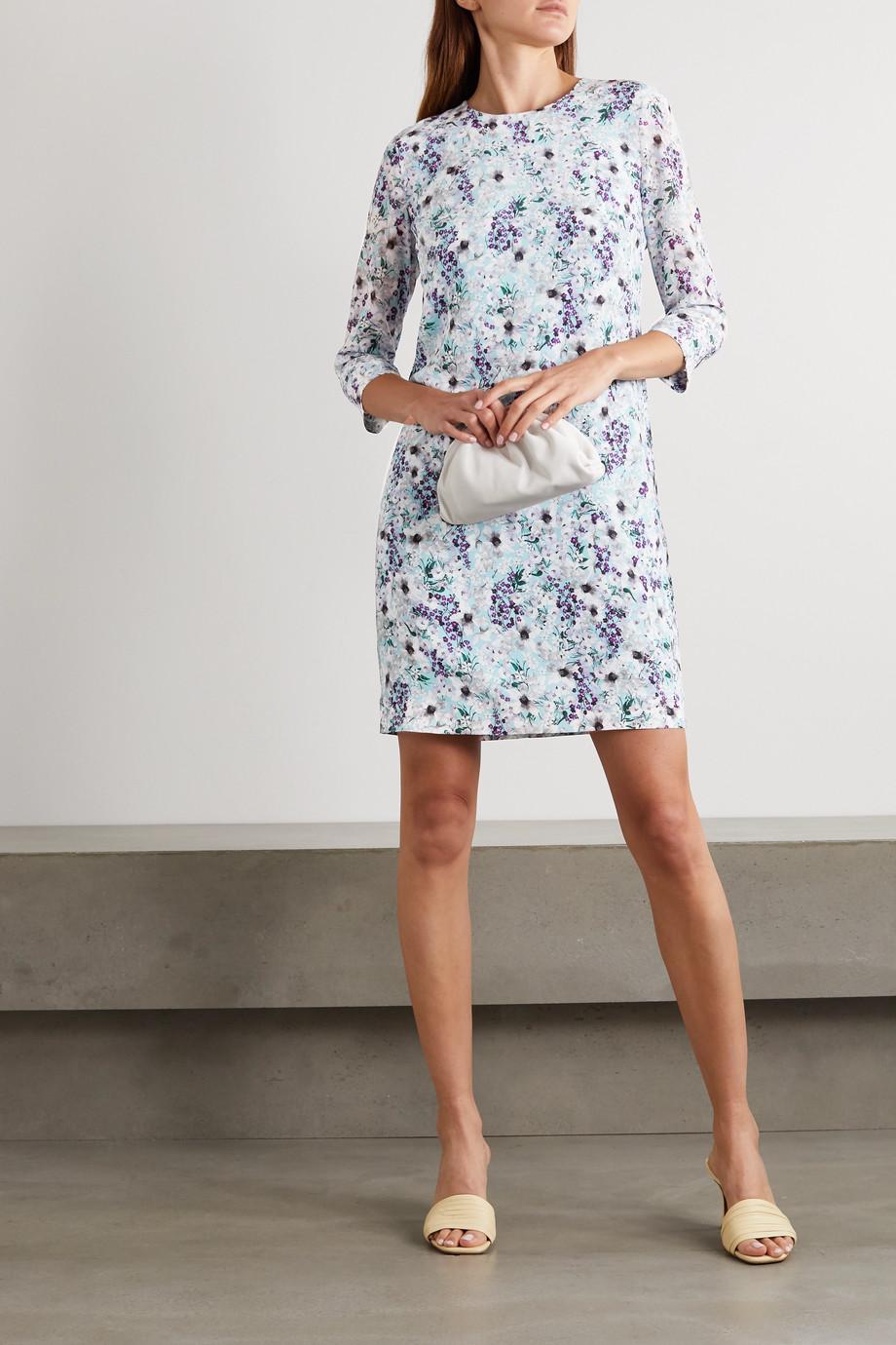 Erdem Emma Minikleid aus Crêpe de Chine aus Seide mit Blumenprint