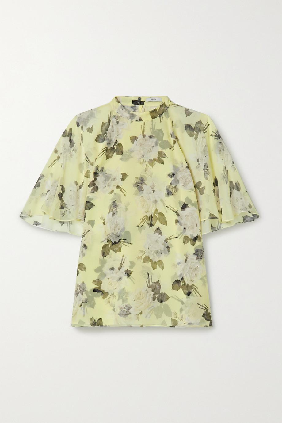 Erdem Bennett floral-print silk-voile blouse