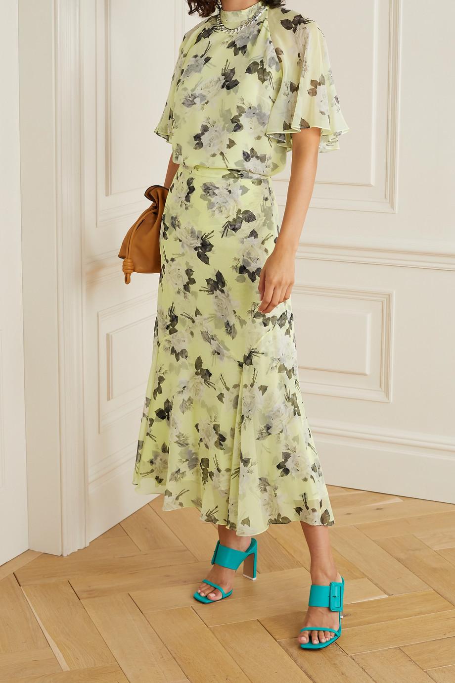 Erdem Bennett Bluse aus Seiden-Voile mit Blumenprint