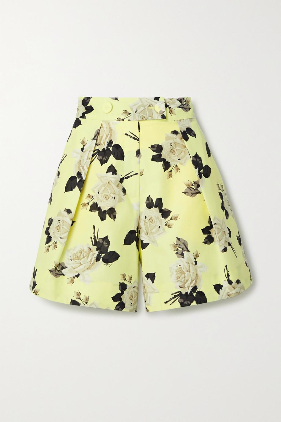 Erdem Howard floral-print cotton-faille shorts