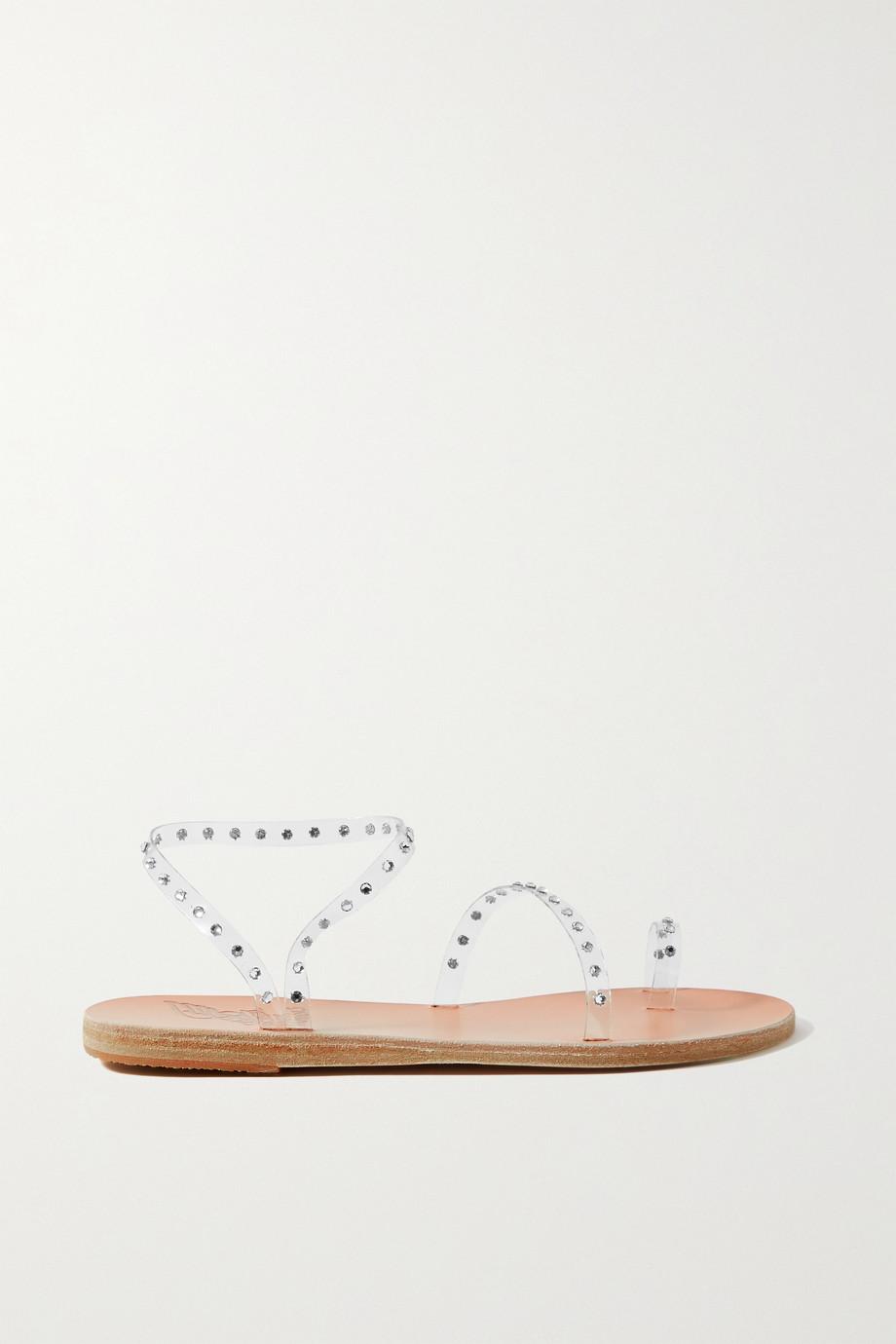 Ancient Greek Sandals Apli Eleftheria Sandalen aus PVC mit Swarovski-Kristallen