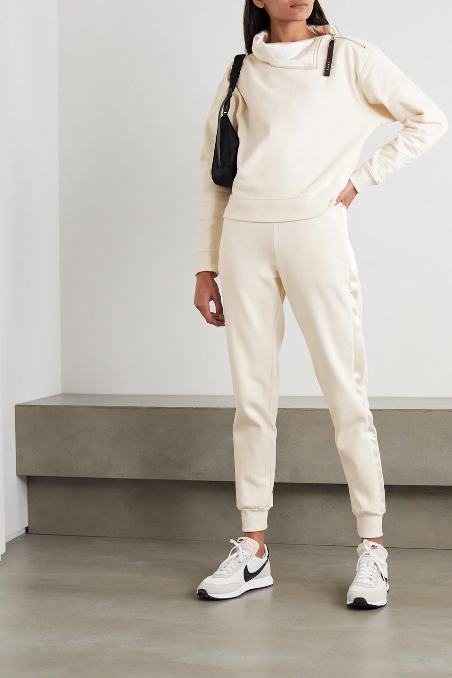Vaara Vanessa satin-trimmed organic cotton-jersey sweatshirt