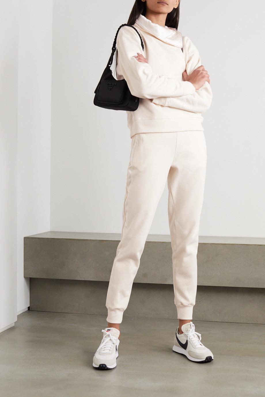 Vaara Esme satin-trimmed organic cotton-jersey track pants