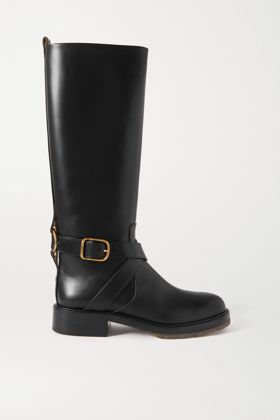 Chloé Diane buckled leather knee boots